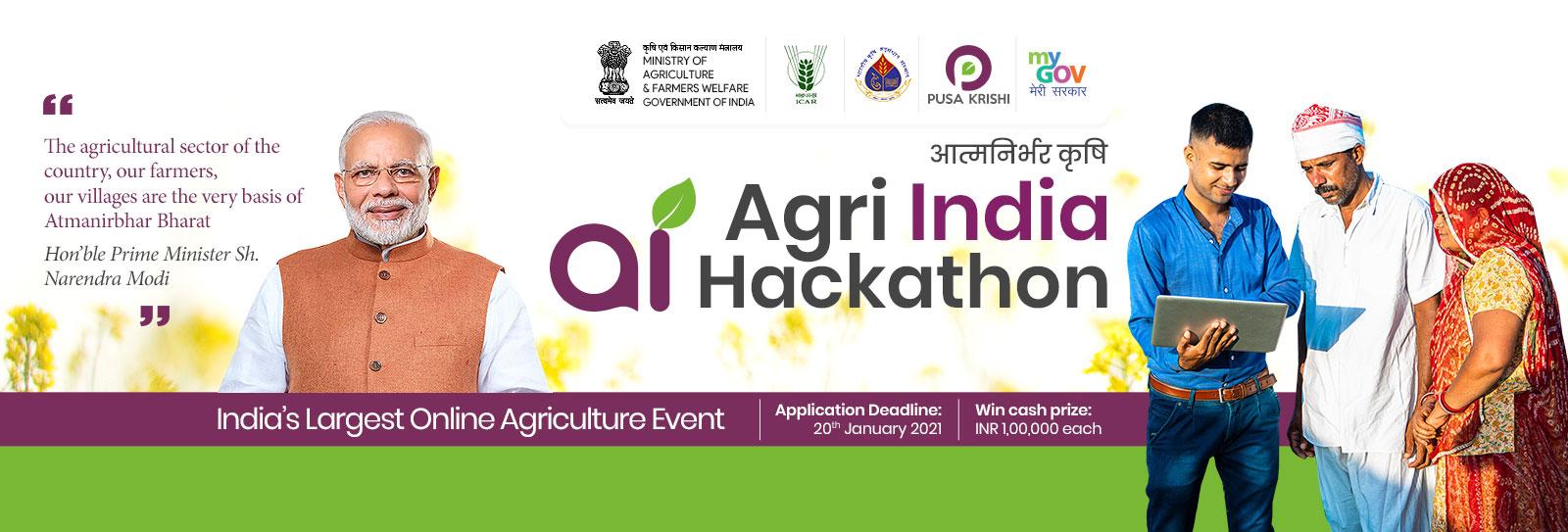 Agri India Hackathon – Innovate India